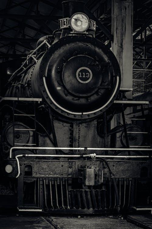 Free stock photo of locomotive, miami museum, old train, train