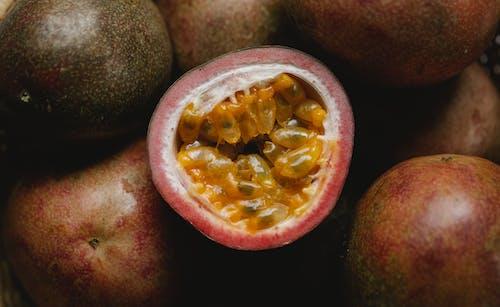 Half of fresh delicious passion fruit