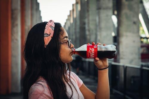 Free stock photo of classic, coca cola, coke, drinking