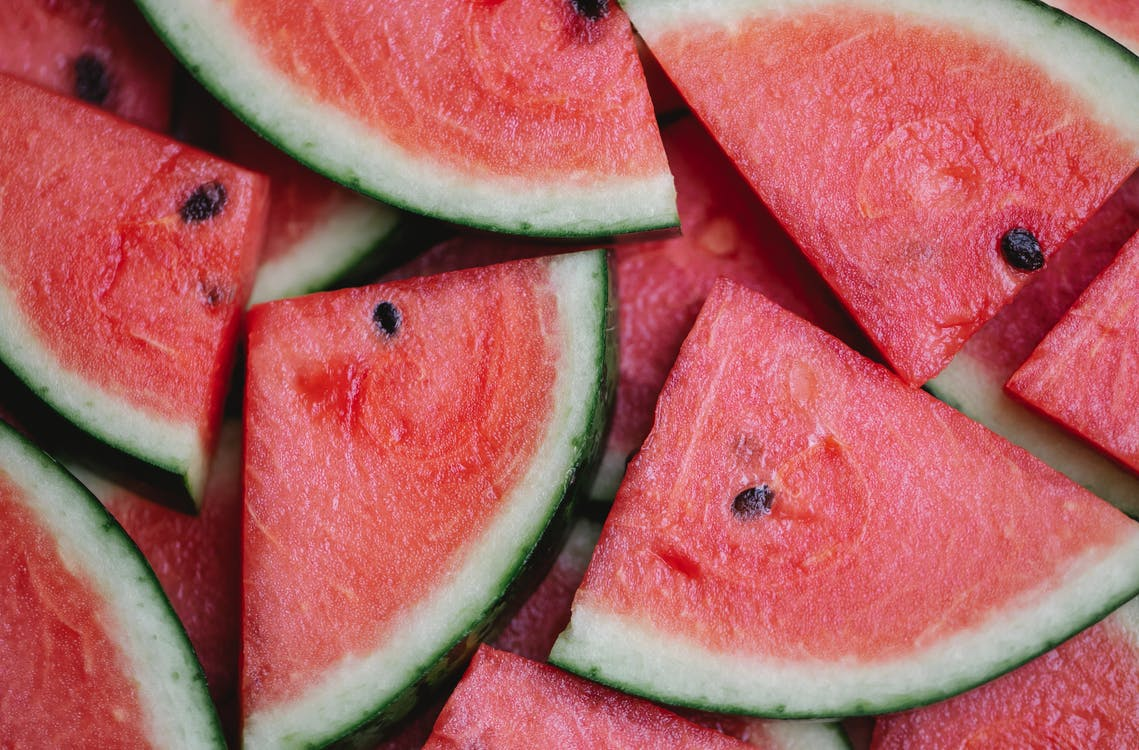 Pieces of fresh juicy watermelon