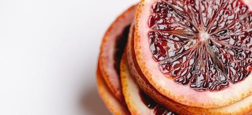 Frutta Arancia A Fette Con Liquido Rosso