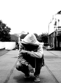 Free stock photo of black-and-white, city, fashion, man
