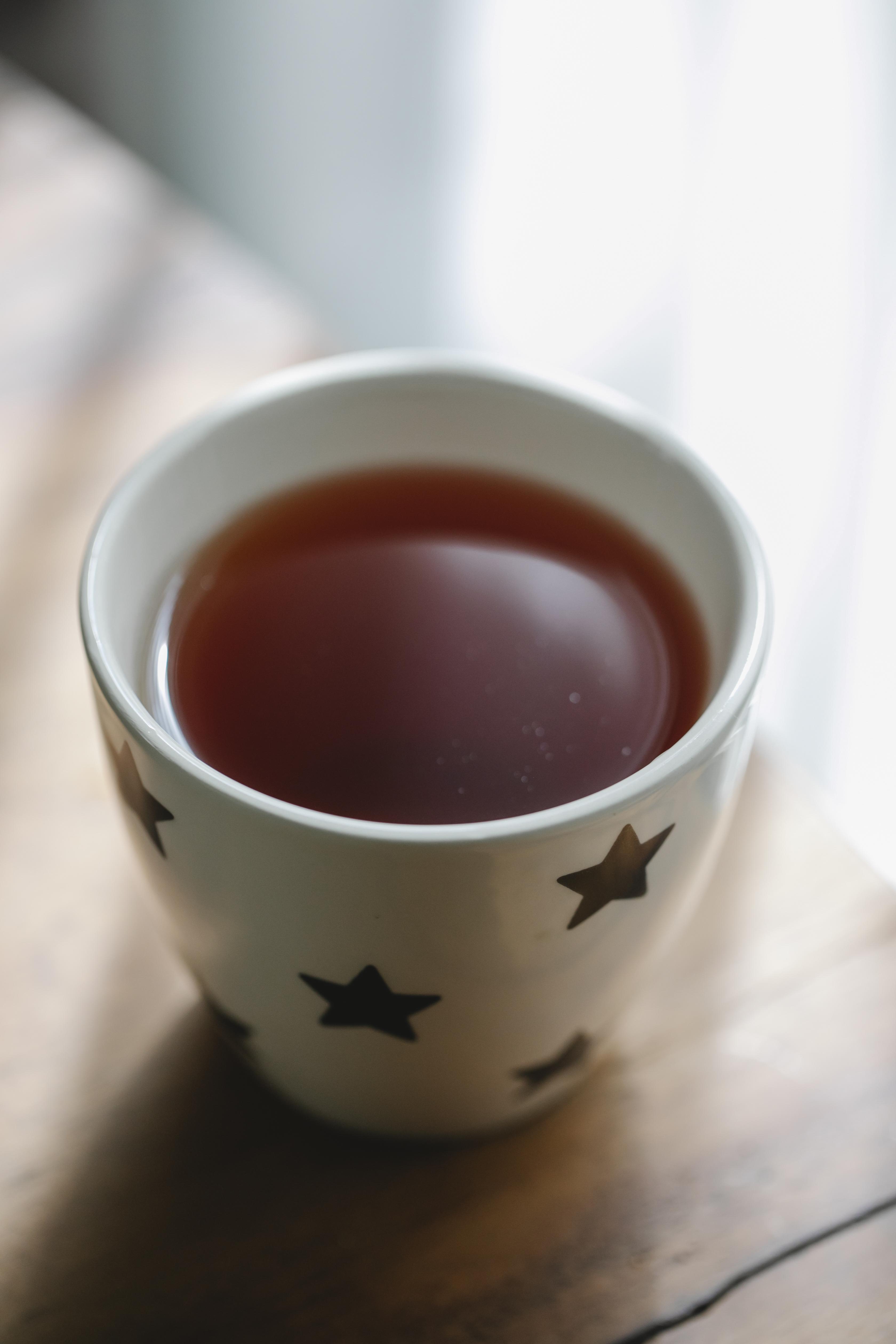 cup of hot tasty tea