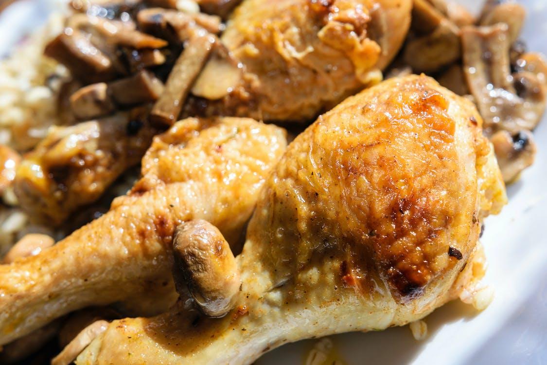 Free stock photo of baked chicken legs, chicken, chicken legs