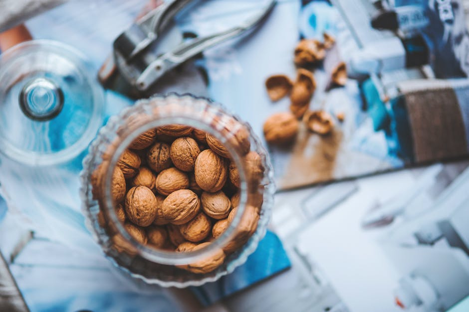 Walnuts in the jar
