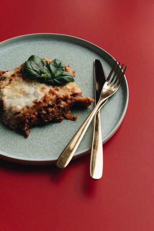 Sliced Lasagna on an Earthenware
