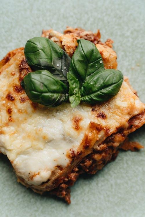 Close-up Photo of Cheesy Lasagna