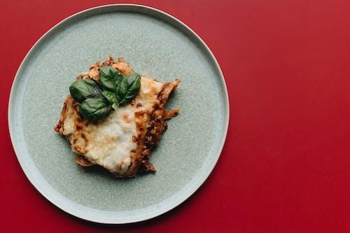 Cheesy Lasagna Dish on a Plate