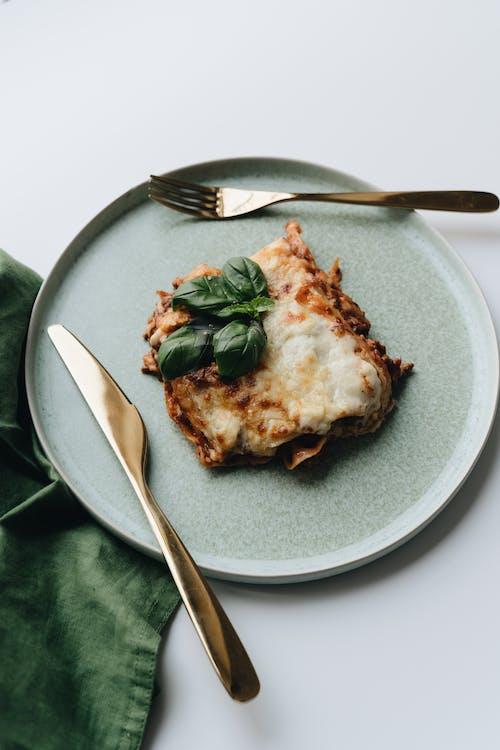 Baked Lasagna on an Earthenware