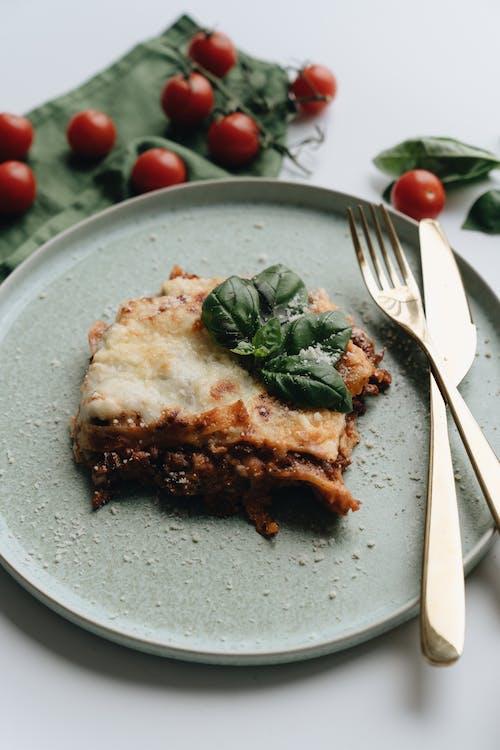 Cheesy Lasagna on Plate