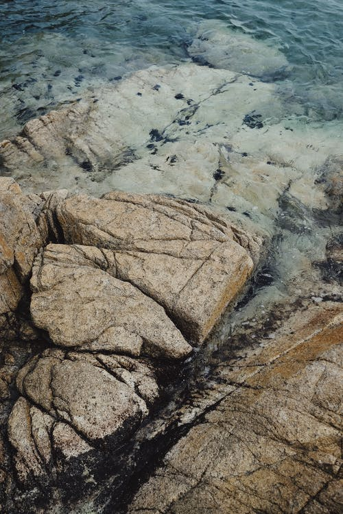 Brown and Gray Rock Formation