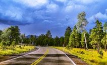 road, nature, sky