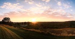landscape, nature, sunset