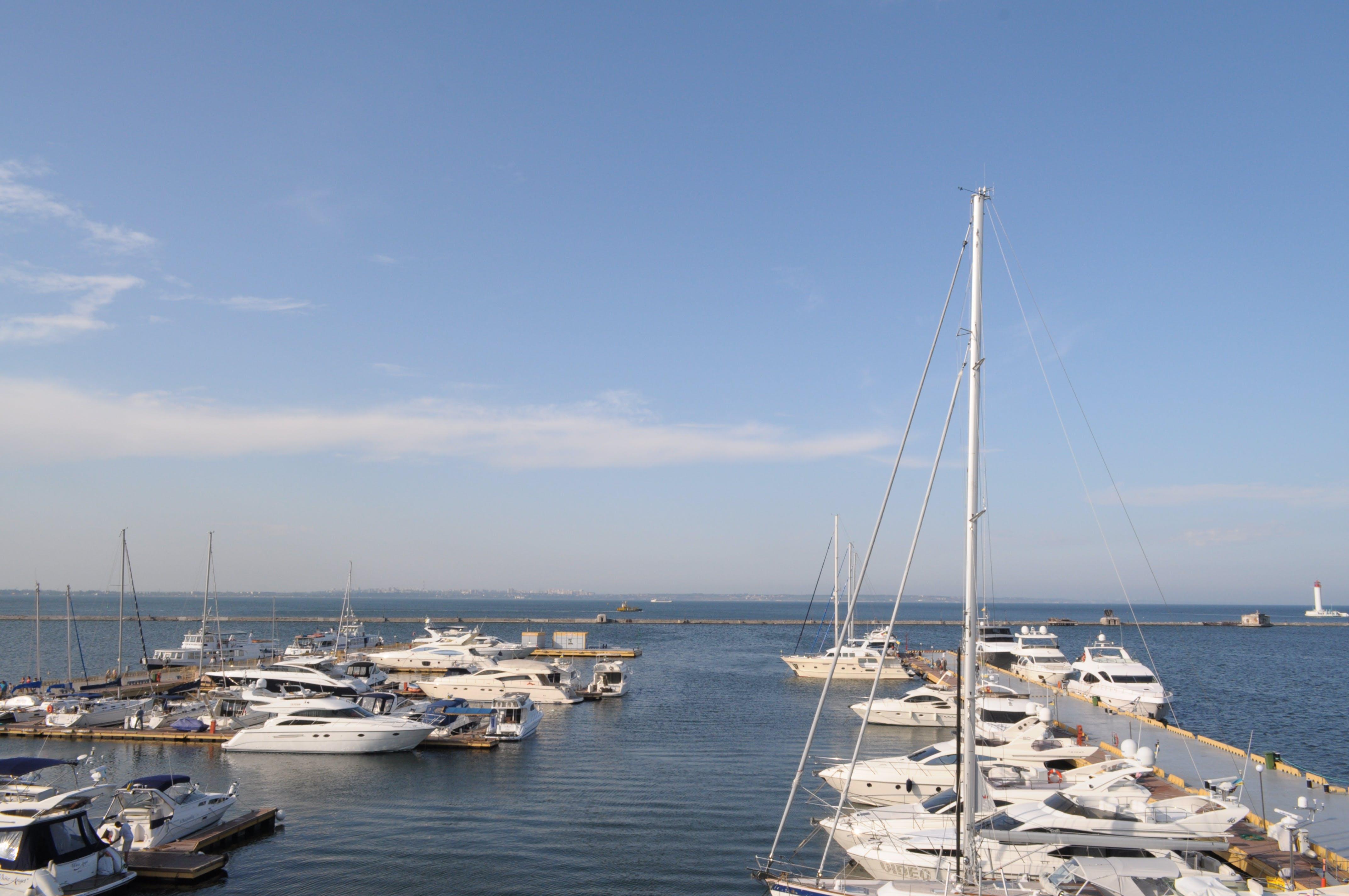 Free stock photo of odessa, see, ukraine, yacht