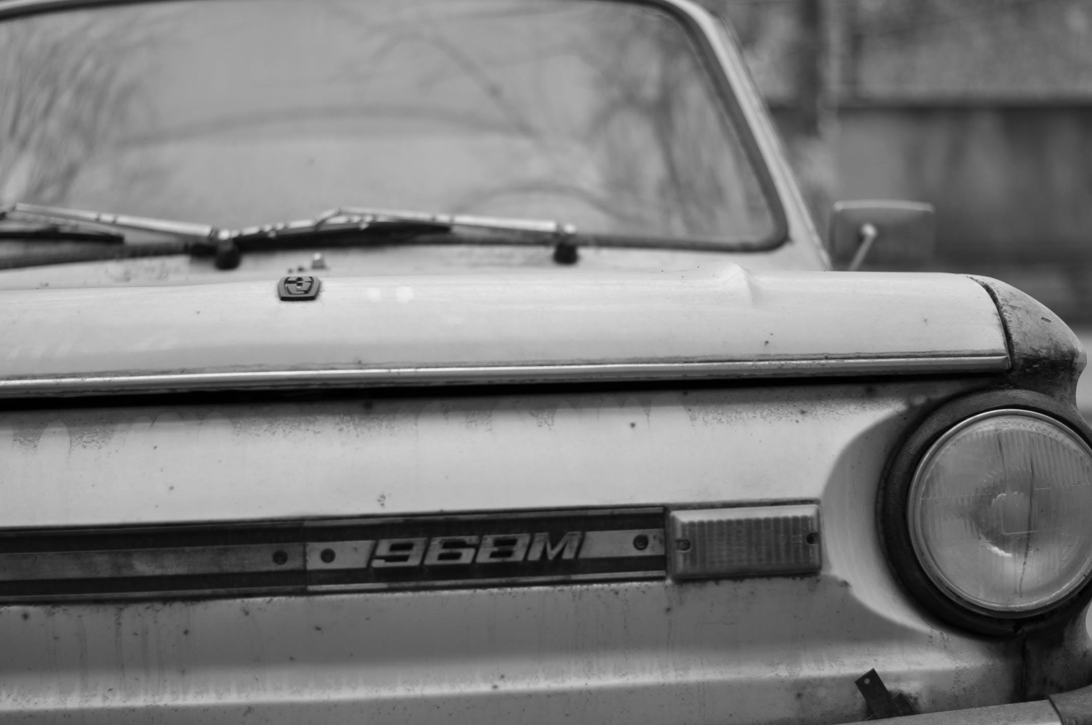 Free stock photo of black and white, car, old car, vintage