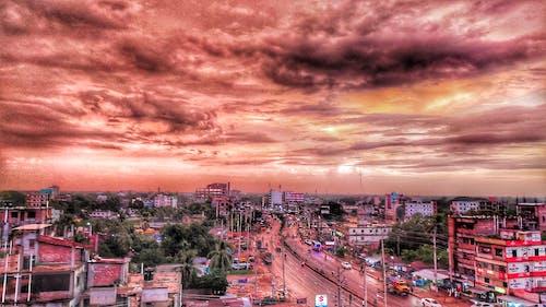 Základová fotografie zdarma na téma apartmány, bangladéš, krásná obloha, městská silnice