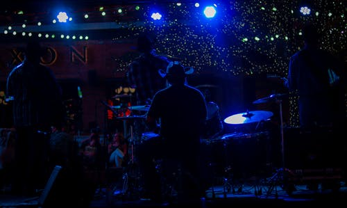 Free stock photo of band, blue light, concert, country