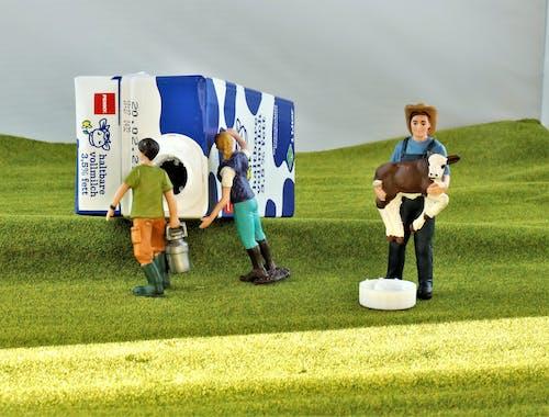 2 Women and Man Standing on Green Grass Field