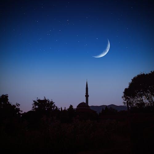 Immagine gratuita di cielo al crepuscolo, crescente, fotografia notturna