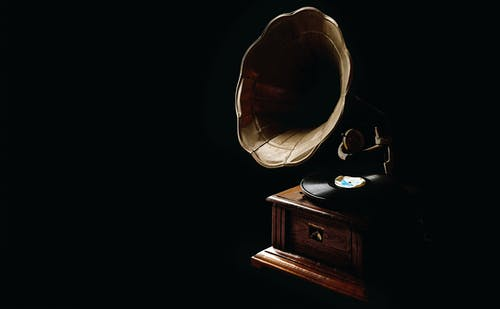 Brown Gramophone Wallpaper