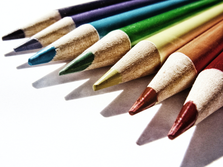 Free stock photo of color pencils, colori, colors, disegno