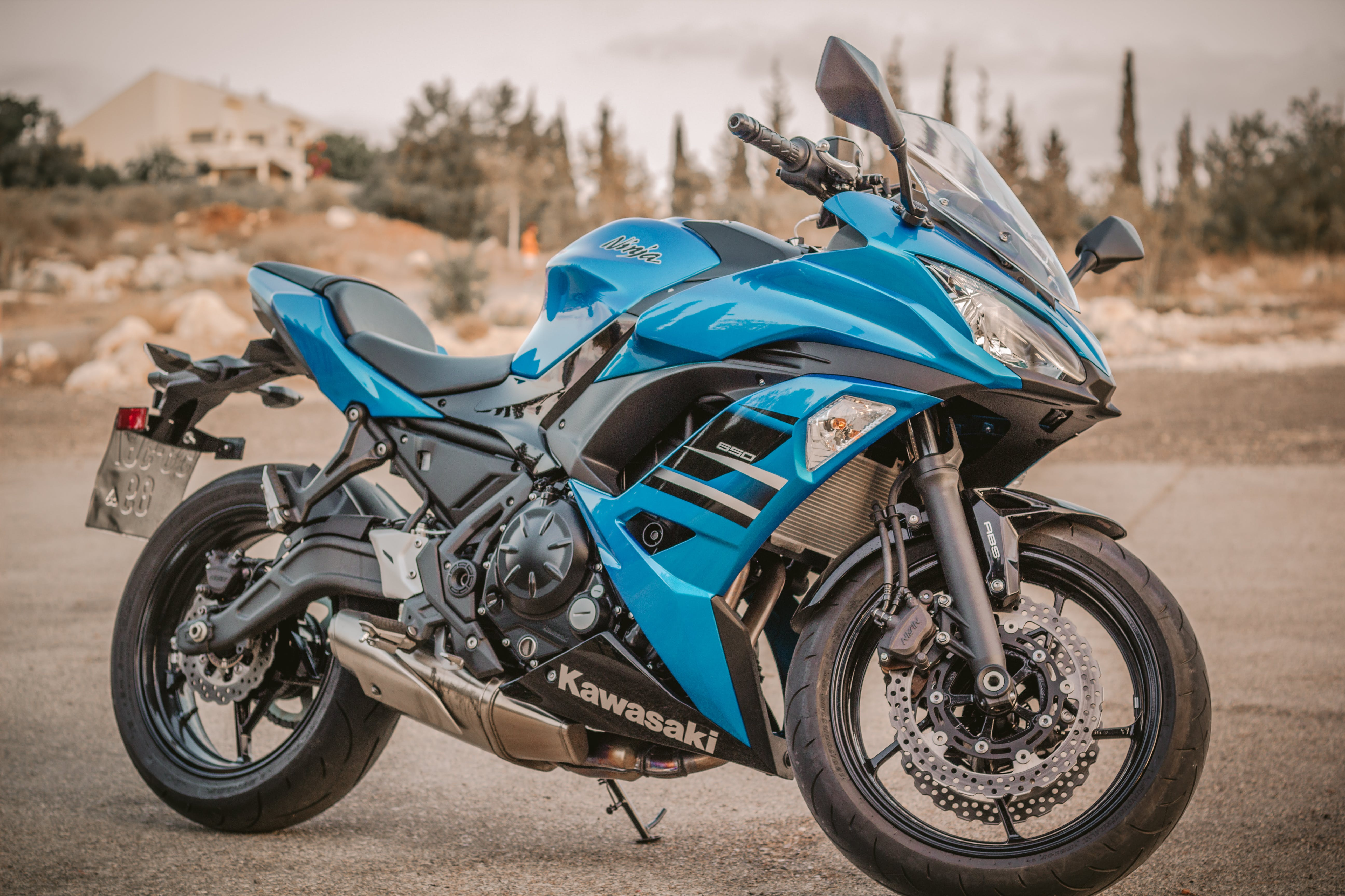 Blue Kawasaki Sport Bike