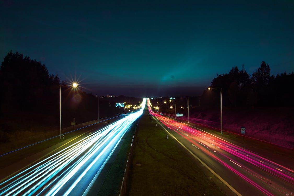Kostnadsfri bild av landskap, långexponering, natt