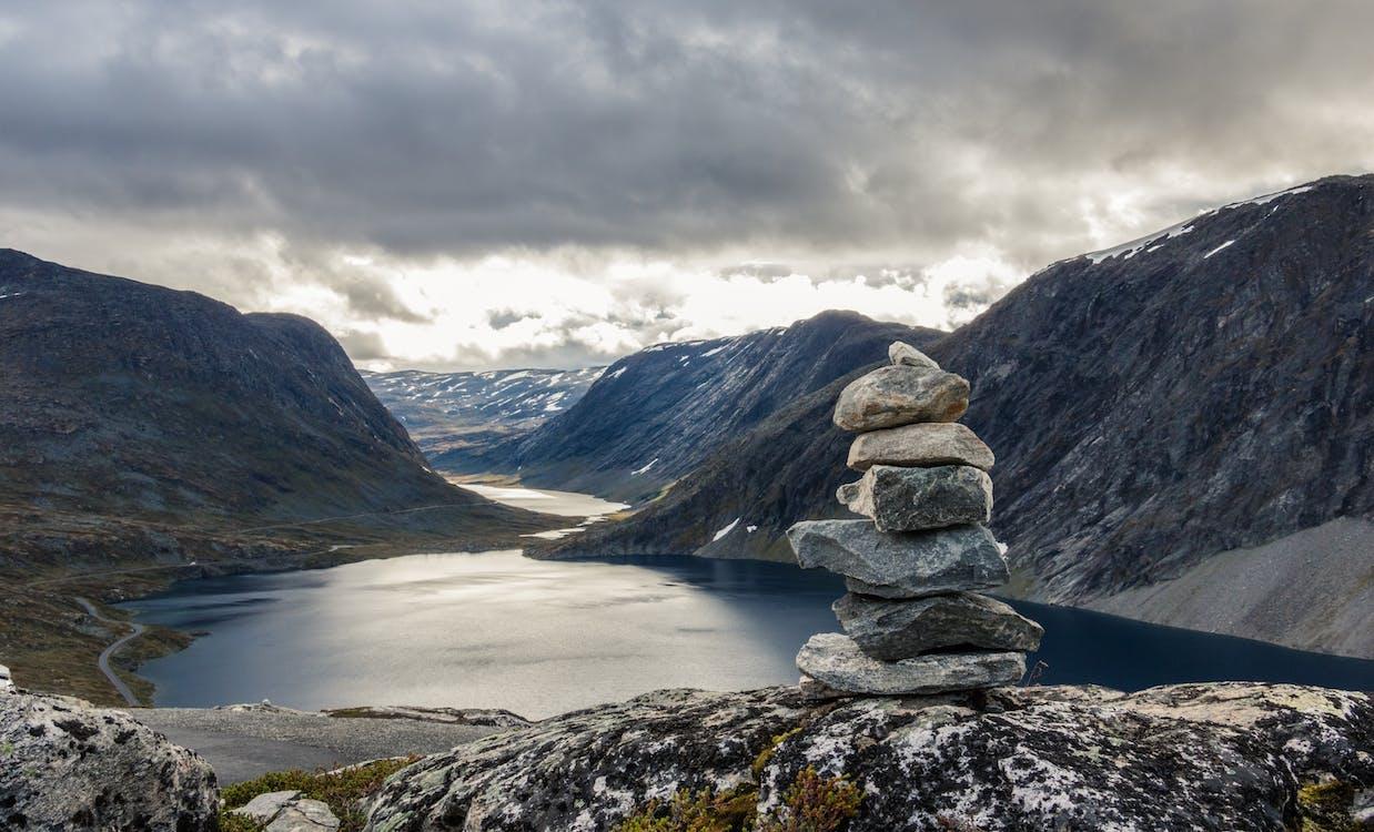 bjerg, Fjord, malerisk