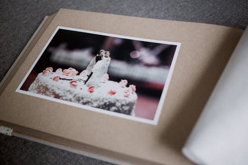 Wedding Cake Photo in Photo Album