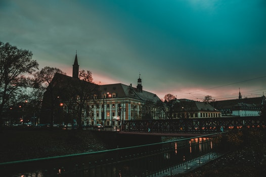 Free stock photo of light, city, dawn, water