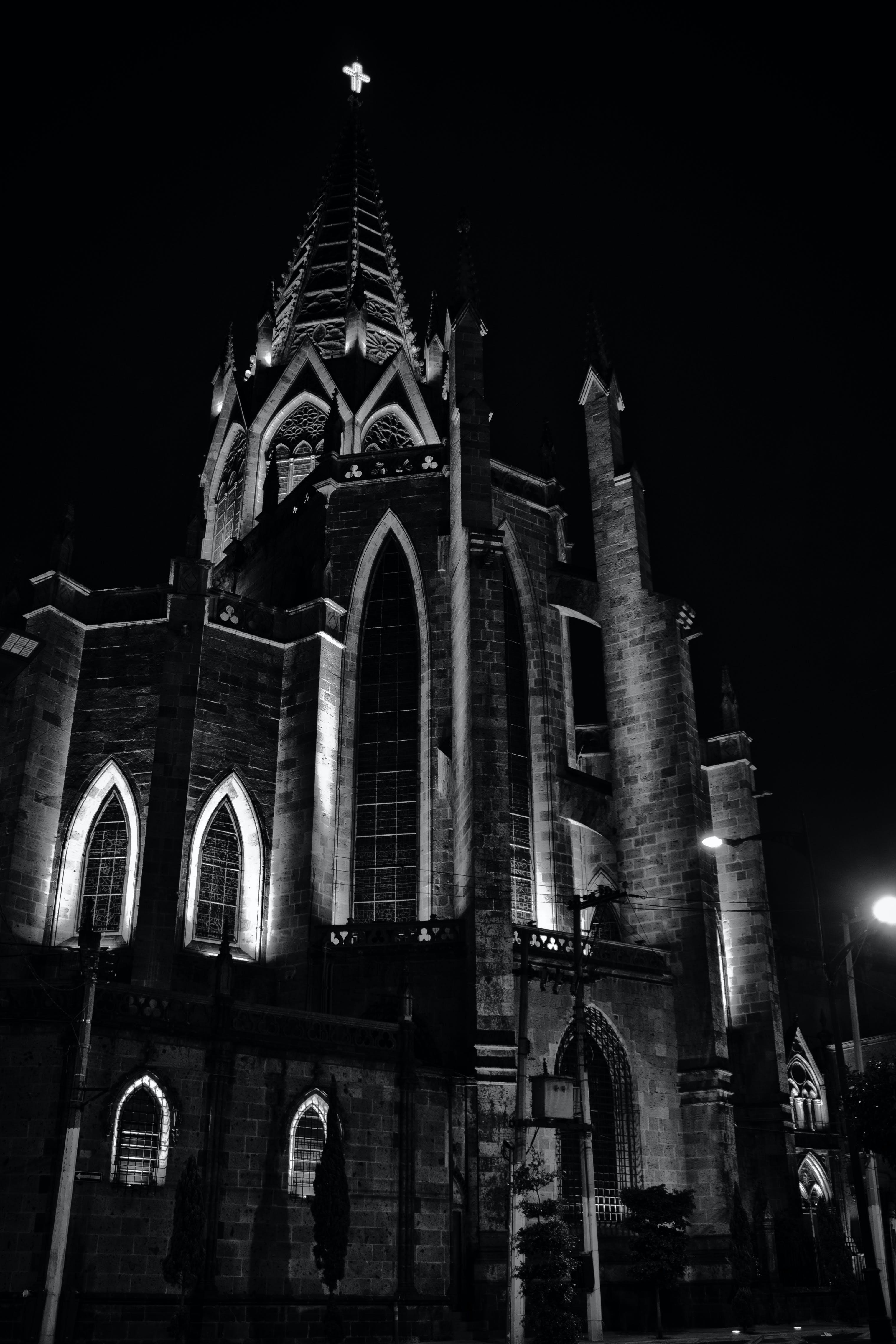 Free stock photo of city, night, street, dark