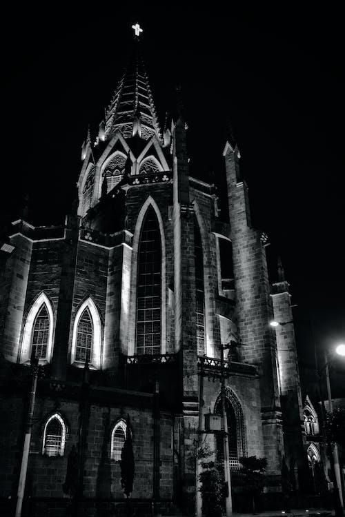 Foto stok gratis Arsitektur, cityscape, diterangi, gelap