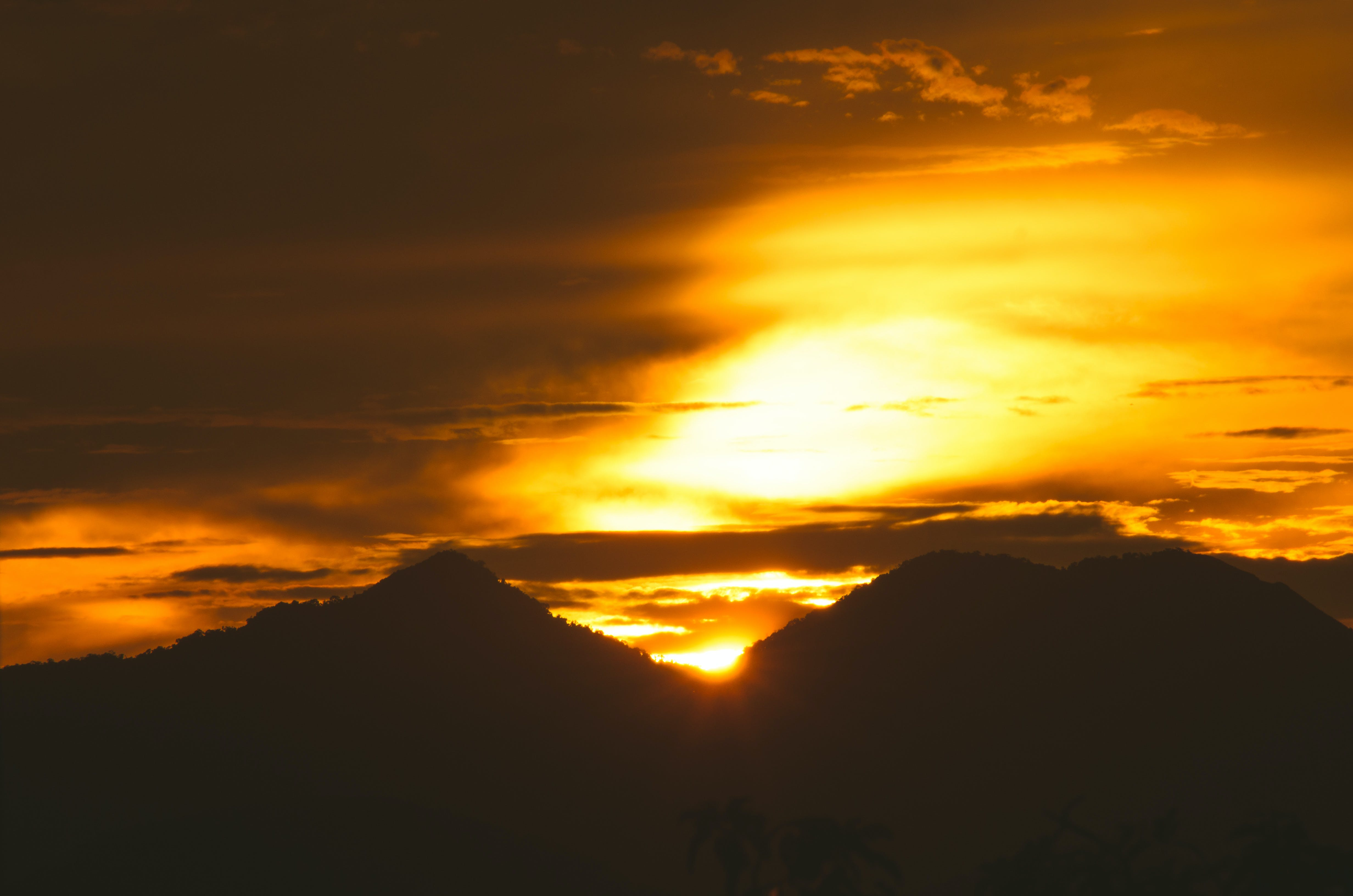 Free stock photo of mountains, sunset, golden hour, natural light