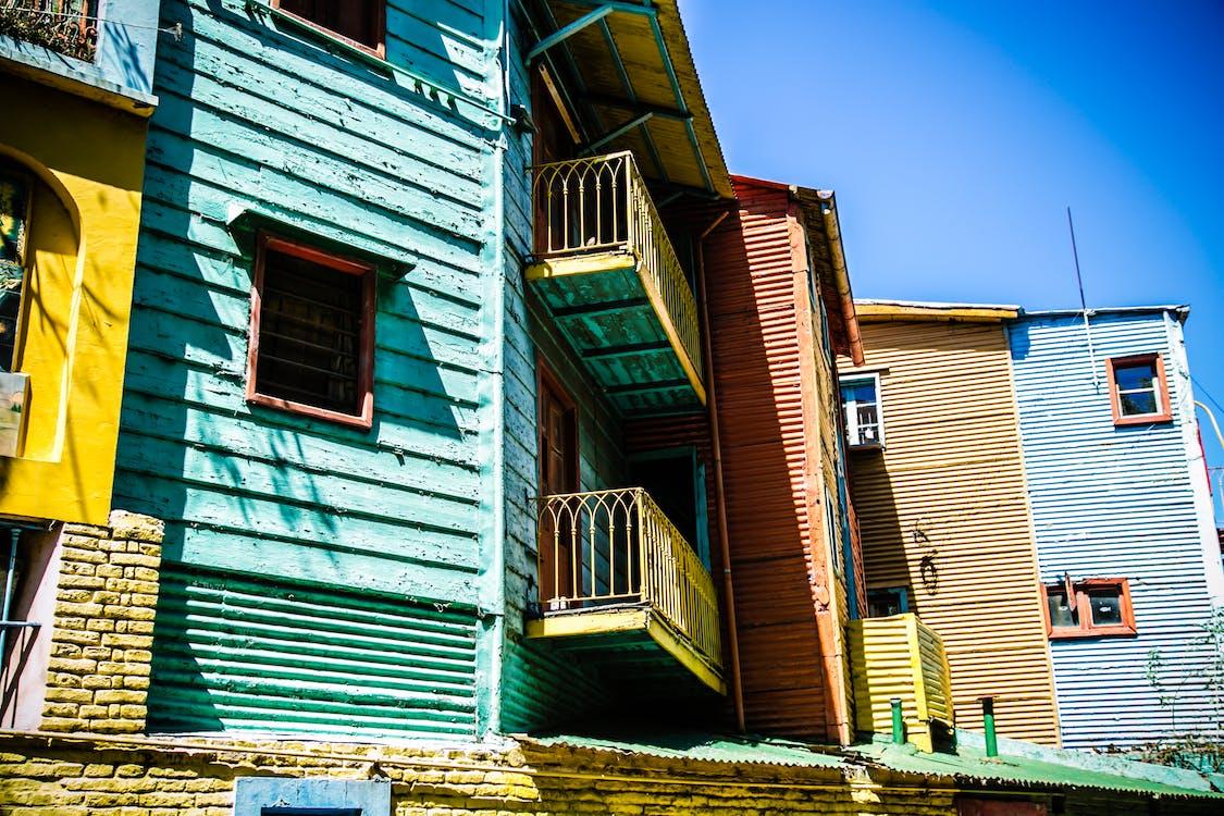 architektur, balkone, bunt