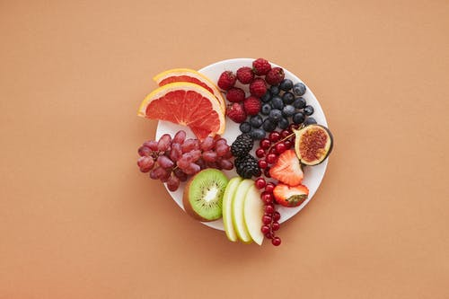 Mixed Fruits on a Ceramic Plate