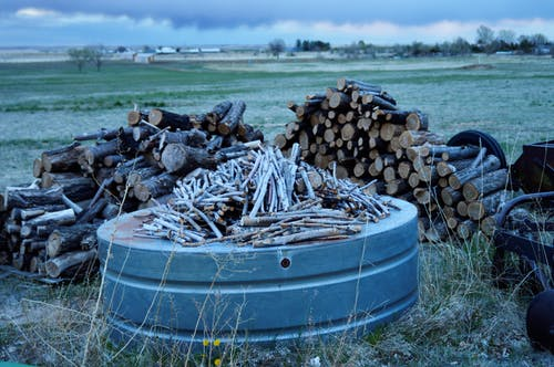 Free stock photo of Winter wood pile