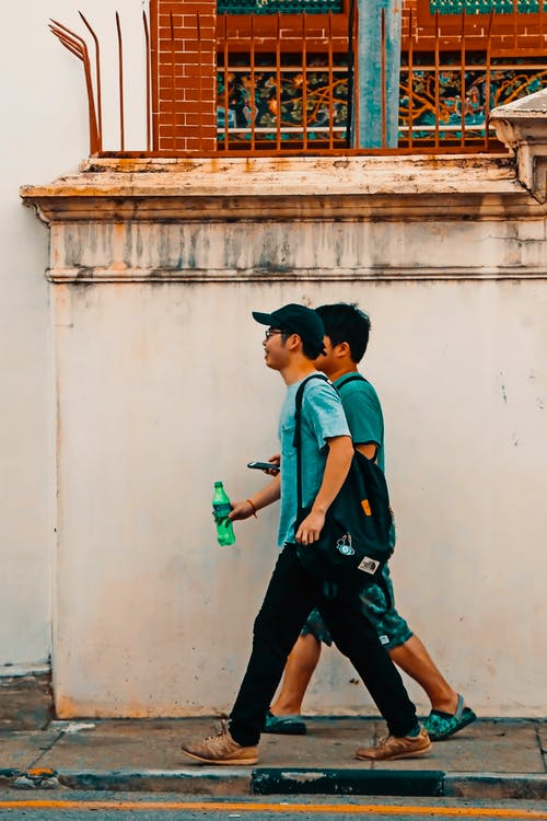 Free stock photo of 2 man, asian people, candid