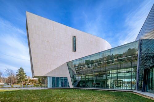 Geometric creative building with large windows
