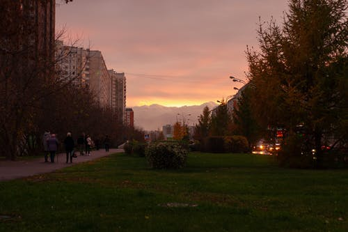 Free stock photo of big city, strreet art, sunset