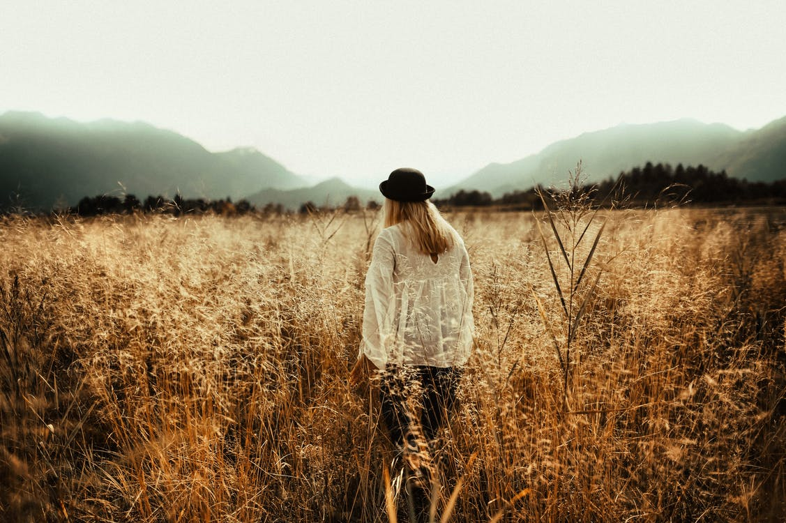 Woman Standing on Field
