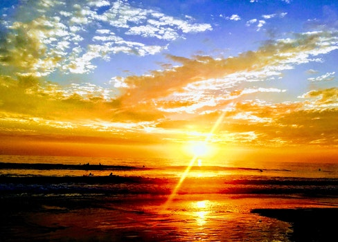 Free stock photo of sunset, evening