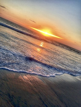 Free stock photo of sunset, ocean, diagonal