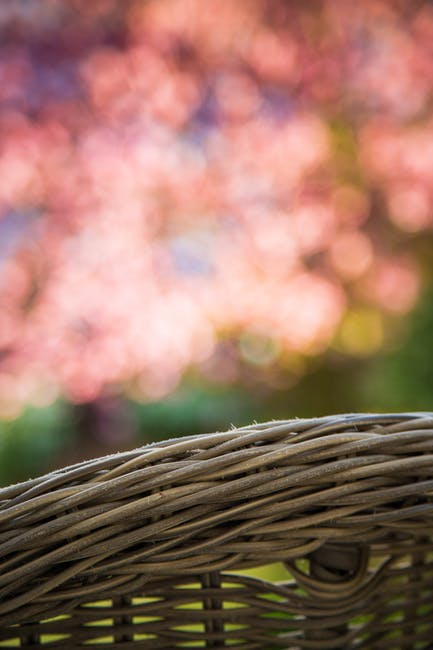 Brown woven basket on brown woven basket
