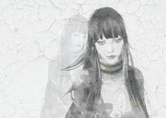 girl, black and white