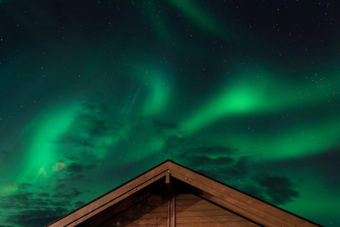 Aurora, aurora borealis, απόγευμα