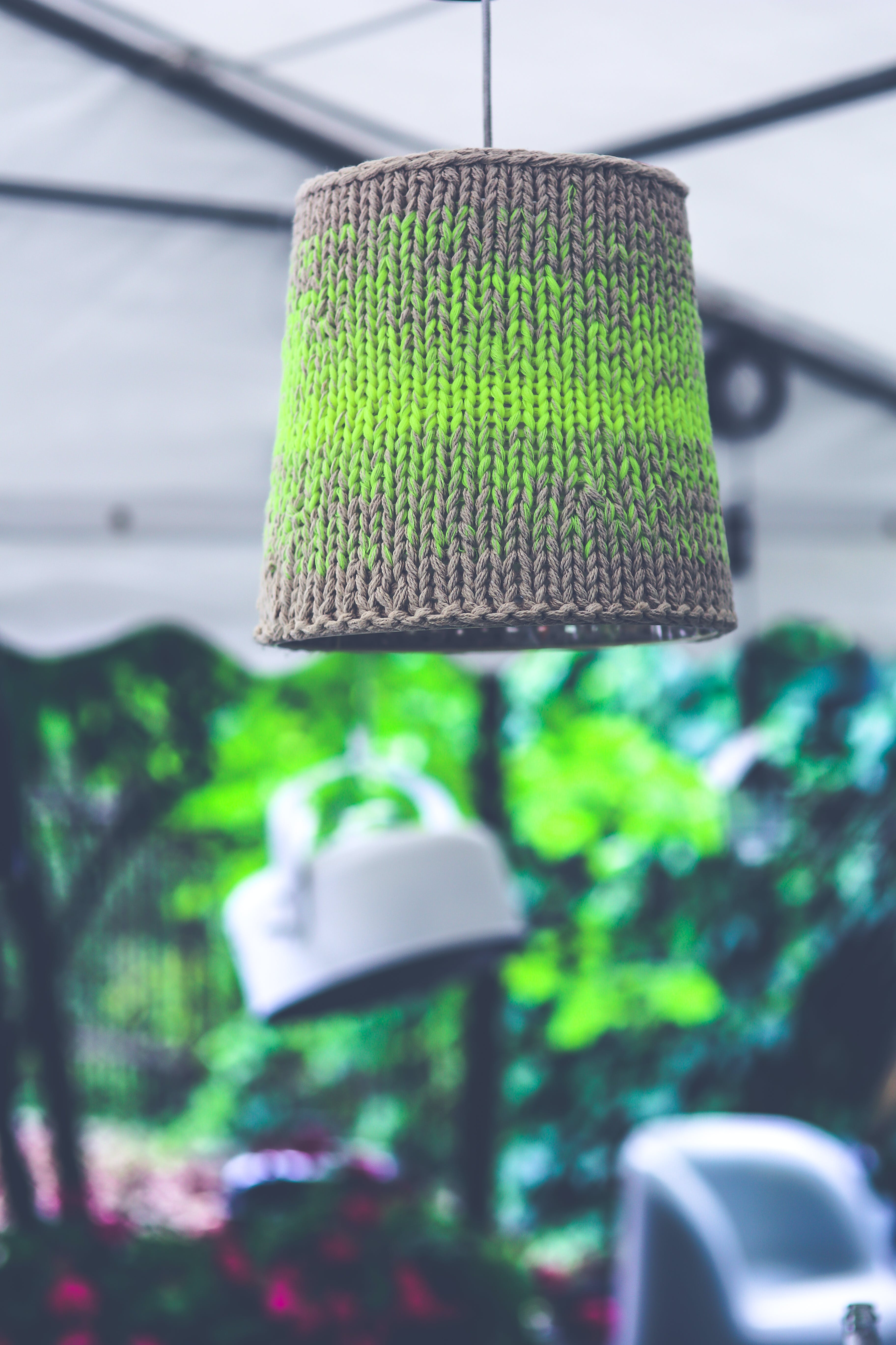Lamp with wool