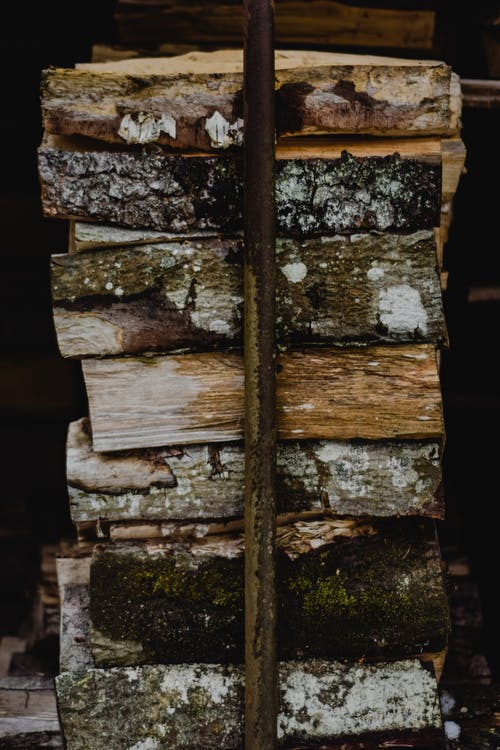 Stack Chopped Wood Log