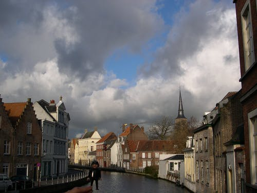 Free stock photo of brugge, clouds, playmobil