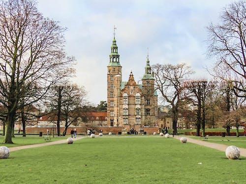Foto stok gratis copenhagen, Denmark, Kastil, kebun