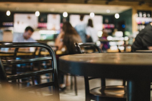 Free stock photo of café, table, chair, bokeh